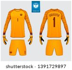 goalkeeper jersey or soccer kit ... | Shutterstock .eps vector #1391729897
