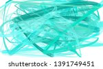 painted turquoise  light cyan... | Shutterstock . vector #1391749451