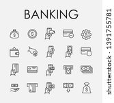 set of 20 banking icons....
