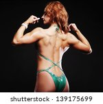 rear view of strong female in... | Shutterstock . vector #139175699