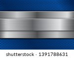 blue metal perforated... | Shutterstock . vector #1391788631