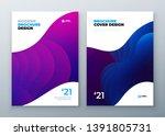 minimal modern cover design.... | Shutterstock .eps vector #1391805731