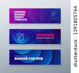 horizontal sale banner... | Shutterstock .eps vector #1391805764