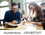 picture of young business... | Shutterstock . vector #1391807297