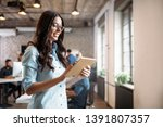young attractive architect... | Shutterstock . vector #1391807357