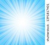 Blue Sunburst Banner With Beam...