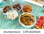 popular filipino food   pancit... | Shutterstock . vector #1391824664