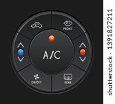car air conditioner control... | Shutterstock . vector #1391827211
