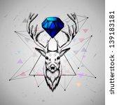 deer with diamond | Shutterstock .eps vector #139183181