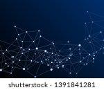 gometric plexus structure...   Shutterstock .eps vector #1391841281