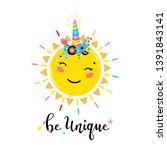 magic unicorn little cute... | Shutterstock .eps vector #1391843141