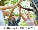 young people make high five as...   Shutterstock . vector #1391859251