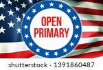 open primary election on a usa...   Shutterstock . vector #1391860487