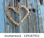 Heart Made Of Wooden Buttons O...