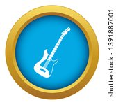 acoustic guitar icon blue... | Shutterstock .eps vector #1391887001