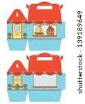 favor  gift  cupcake box die... | Shutterstock .eps vector #139189649
