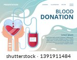 web banner blood donation and... | Shutterstock .eps vector #1391911484
