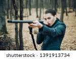 hunting weapon gun or rifle.... | Shutterstock . vector #1391913734