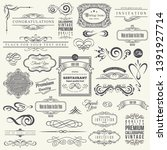 Stock photo calligraphic design elements and frames vintage collection 1391927714