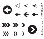 arrow back and right icon set... | Shutterstock .eps vector #1391939447