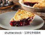 Homemade Organic Berry Pie Wit...