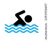 swimming icon  vector swimming... | Shutterstock .eps vector #1391953697