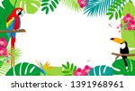 summer tropical background... | Shutterstock .eps vector #1391968961