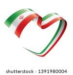 iran flag  vector illustration... | Shutterstock .eps vector #1391980004