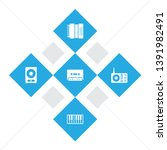 set of 5 melody icons set.... | Shutterstock .eps vector #1391982491