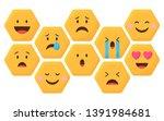 emoji set icon vector...   Shutterstock .eps vector #1391984681