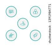 set of 5 hobbie icons line... | Shutterstock .eps vector #1391984771