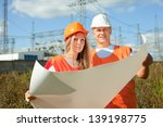 two workers wearing protective ...   Shutterstock . vector #139198775