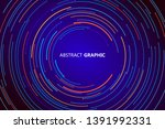 abstract circle graphic... | Shutterstock .eps vector #1391992331