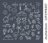 children's day  chalk icon...   Shutterstock .eps vector #1391998307