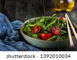 salad with tomatoes  arugula...   Shutterstock . vector #1392010034