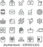 thin line vector icon set  ... | Shutterstock .eps vector #1392011321