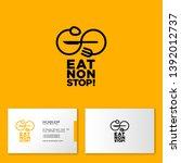 eat non stop logo. cafe or... | Shutterstock .eps vector #1392012737