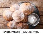 bunuelos  mexican fritters ... | Shutterstock . vector #1392014987