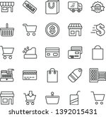 thin line vector icon set  ... | Shutterstock .eps vector #1392015431