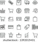 thin line vector icon set  ... | Shutterstock .eps vector #1392015431