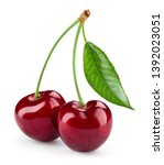 Cherry isolated. cherry on...