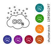 grey co2 emissions in cloud... | Shutterstock .eps vector #1392041297