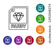 grey ruby file document icon.... | Shutterstock .eps vector #1392048374