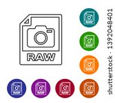 grey raw file document icon....   Shutterstock .eps vector #1392048401