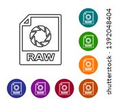 grey raw file document icon....   Shutterstock .eps vector #1392048404