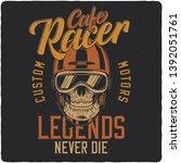 biker skull. vintage label ...   Shutterstock .eps vector #1392051761