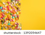 top view of multicolored... | Shutterstock . vector #1392054647