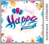 happy birthday joyful and... | Shutterstock .eps vector #1392066584