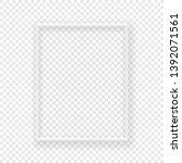 whita frame on a wall vector... | Shutterstock .eps vector #1392071561
