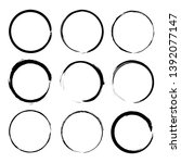vector set of grunge circle... | Shutterstock .eps vector #1392077147